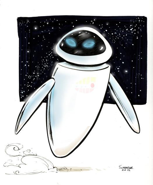 daily sketch: Pixar's EVE (WALL-E)