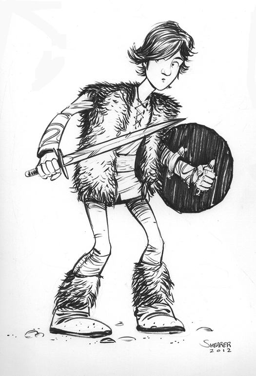 Daily Sketch: Hiccup from Dreamwork's How to Train Your Dragon