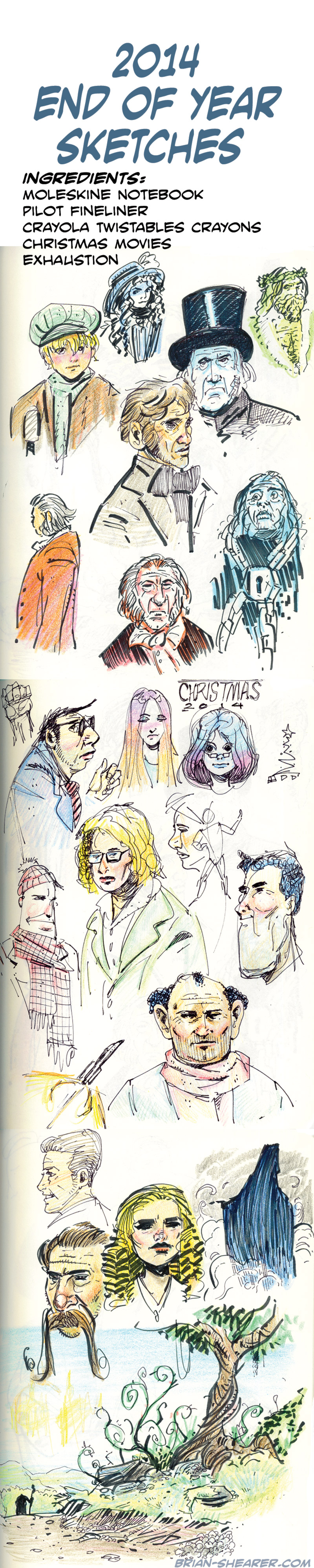 Watching Christmas Movies and Drawing with Crayons
